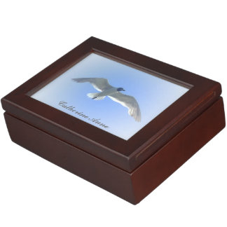 Gull in Flight Personalized Memory Box