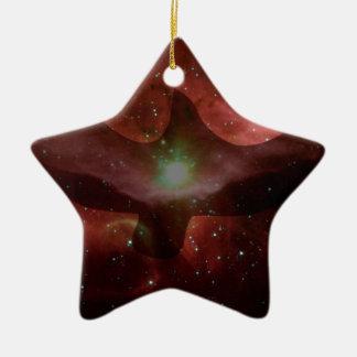 Gull in Space. Ceramic Ornament