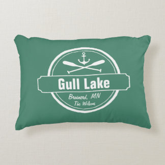 Gull Lake Minnesota anchor, paddles town and name Decorative Pillow