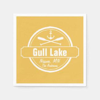 Gull Lake Minnesota anchor, paddles town and name Paper Napkin