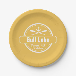 Gull Lake Minnesota anchor, paddles town and name Paper Plate