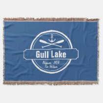 Gull Lake Minnesota anchor, paddles town and name Throw