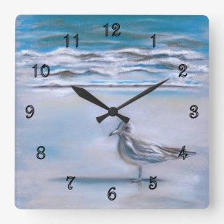 Gull on the Shore Clock