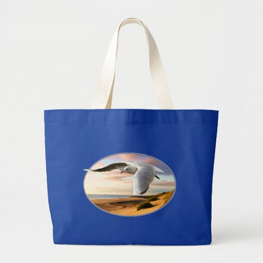 Gull on the Wing Over Beach Tote Bag