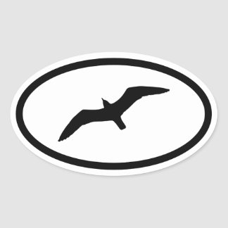 Gull Oval Sticker