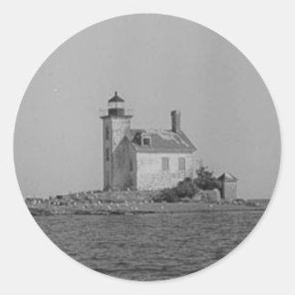 Gull Rock Light Station Classic Round Sticker