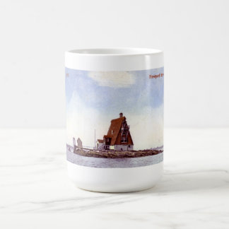 Gull Rock Lighthouse Postcard Mug