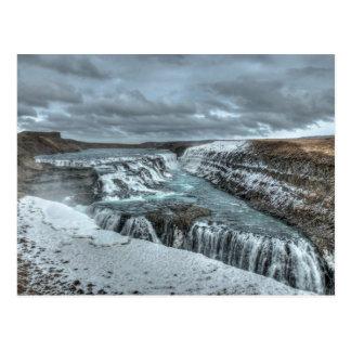 Gullfoss Waterfall, Iceland Postcard