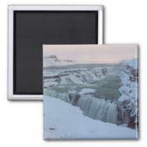 Gullfoss Waterfall in Iceland 2 Inch Square Magnet