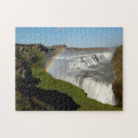 Gullfoss waterfall in summer puzzles