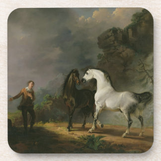 Gulliver Addressing the Houyhnhnms, 1769 (oil on c Beverage Coaster