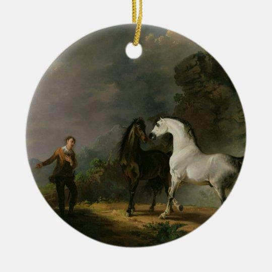 Gulliver Addressing the Houyhnhnms, 1769 (oil on c Ceramic Ornament