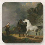 Gulliver Addressing the Houyhnhnms, 1769 (oil on c Drink Coaster
