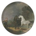 Gulliver Addressing the Houyhnhnms, 1769 (oil on c Dinner Plate