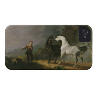 Gulliver Addressing the Houyhnhnms, 1769 (oil on c iPhone 4 Case-Mate Case
