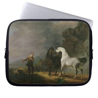 Gulliver Addressing the Houyhnhnms, 1769 (oil on c Laptop Sleeve