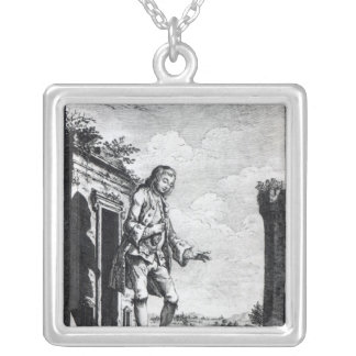 Gulliver amongst the Lilliputians Silver Plated Necklace