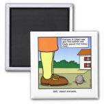 Gulliver and the Kidney Stone Cartoon 2 Inch Square Magnet