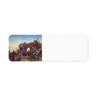 Gulliver by Jean Georges Vibert Return Address Label