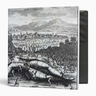 Gulliver captured by the Lilliputians 3 Ring Binder