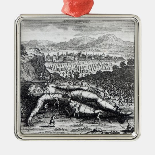 Gulliver captured by the Lilliputians Metal Ornament