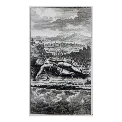Gulliver captured by the Lilliputians Print