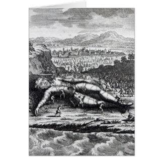 Gulliver capturó por los Lilliputians Tarjeta De Felicitación