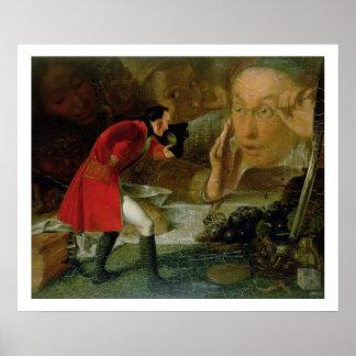 Gulliver exhibió al granjero de Brobdingnag Póster