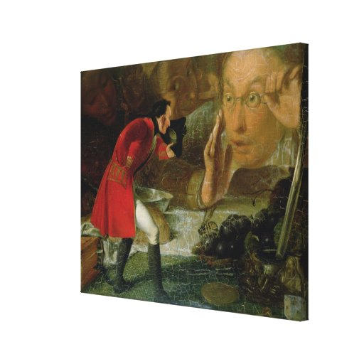 Gulliver Exhibited to the Brobdingnag Farmer Stretched Canvas Prints