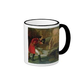 Gulliver Exhibited to the Brobdingnag Farmer Ringer Mug