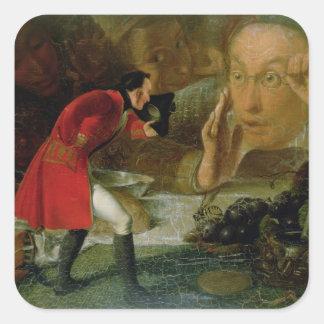Gulliver Exhibited to the Brobdingnag Farmer Square Sticker