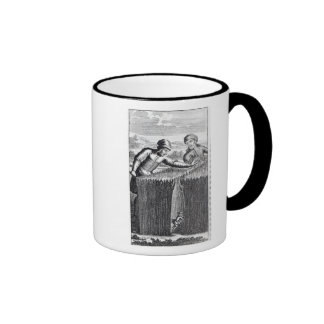 Gulliver is discovered by a farmer in ringer mug