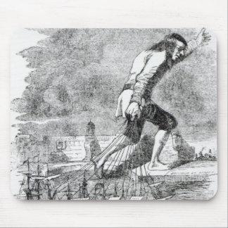 Gulliver que roba la flota de Blefuscudian Alfombrillas De Raton