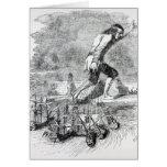 Gulliver que roba la flota de Blefuscudian Tarjetón