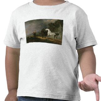 Gulliver que se dirige al Houyhnhnms, 1769 (aceite Camiseta