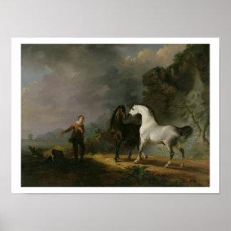 Gulliver que se dirige al Houyhnhnms, 1769 (aceite Póster