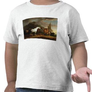 Gulliver que toma su licencia final de la tierra camiseta