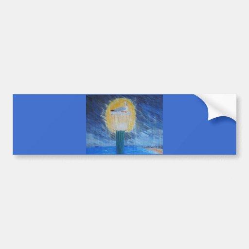 Gulliver Seagull On Lamppost Bumper Sticker