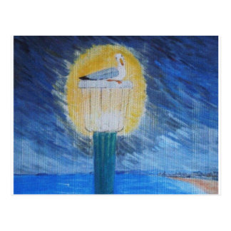 Gulliver Seagull On Lamppost Postcard
