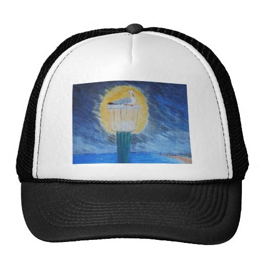 Gulliver Seagull On Lamppost Trucker Hat