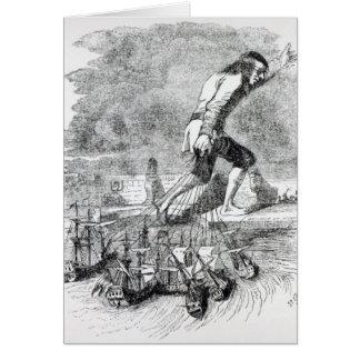 Gulliver stealing the Blefuscudian fleet Greeting Card
