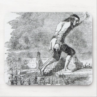 Gulliver stealing the Blefuscudian fleet Mouse Pad