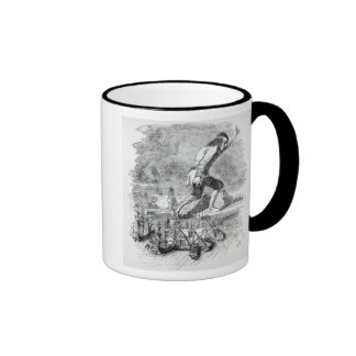 Gulliver stealing the Blefuscudian fleet Ringer Mug