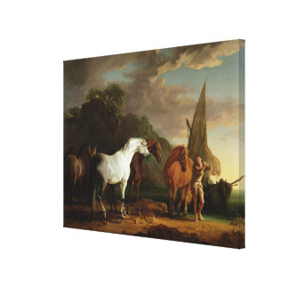 Gulliver Taking his Final Leave of the Land of the Canvas Print