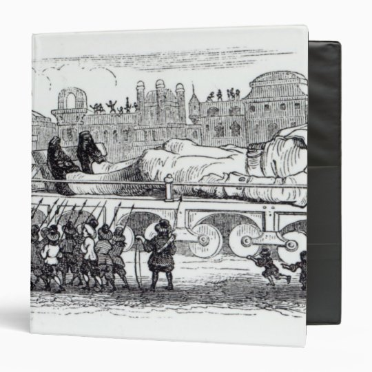 Gulliver transported to the Lilliputian 3 Ring Binder