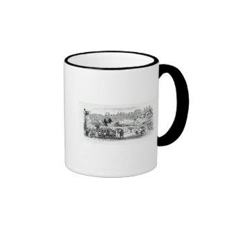 Gulliver transported to the Lilliputian Ringer Mug