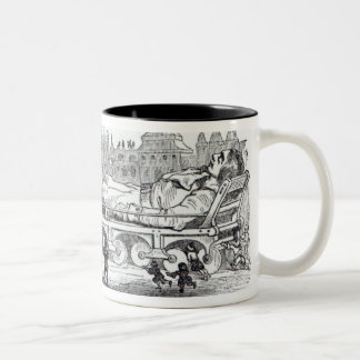 Gulliver transported to the Lilliputian Two-Tone Coffee Mug