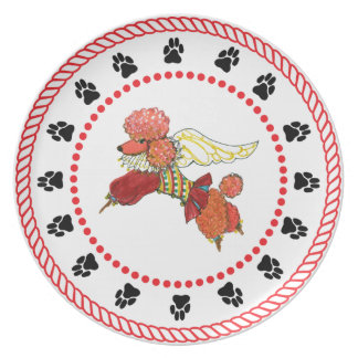 Gulliver's Angels Apricot Poodle Dinner Plate