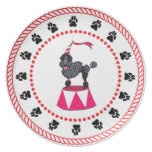 Gulliver's Angels Black Circus Poodle Dinner Plate