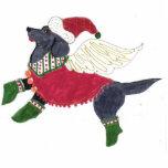 Gulliver's Angels Black Lab Christmas Ornament Photo Sculpture